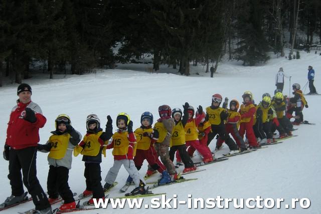 O zi de schi in Postavaru